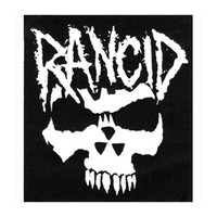 Rancid Men's Crimson Ghost Cloth Patch Black