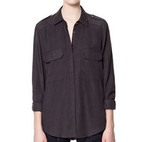 SHIRT WITH PATCH POCKET - Tops - Woman | ZARA United States
