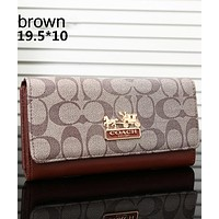 COACH 2018 new tide brand fashion women exquisite clutch F-OM-NBPF Brown