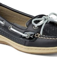 Sperry Top-Sider Angelfish Woven Slip-On Boat Shoe BlackWovenLeather, Size 5M  Women's Shoes