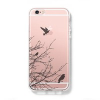 Flying Birds iPhone 6 Clear Hard Case, iPhone 6s Plus Case, Galaxy S6 Edge Case C035