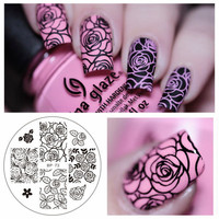 HOT 1 Pc BORN PRETTY BP73 Rose Flower Nail Art Stamp Template Image Plate BP Nail Stamping Plate