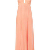 Willow | Stretch-silk and tulle maxi dress | NET-A-PORTER.COM