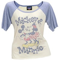 Mickey Mouse - Mickey & Minnie Juniors Raglan