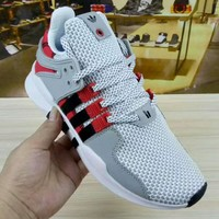 """Adidas EQT Support""""Coat of Arms"""" Sports shoes gray+red H-CSXYQGCZDL-CY"""