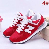 Alwayn New Balance Fashion New Contrast Color Women Men Sports Leisure Running Shoes