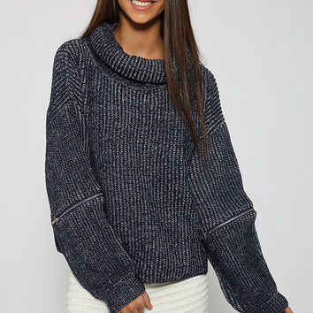 Felicia Knit - Navy Speckle