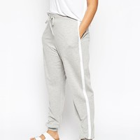 ASOS CURVE Sweat Pant With Side Stripe at asos.com