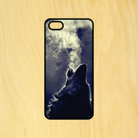 Wolf Blowing Smoke Phone Case iPhone 4 / 4s / 5 / 5s / 5c /6 / 6s /6+ Apple Samsung Galaxy S3 / S4 / S5 / S6