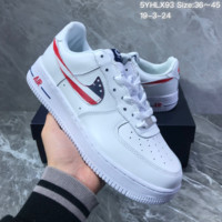 DCCK2 N1108 Nike Air Force 1 07 American flag hook anti-skid and wear-resistant skate shoes white