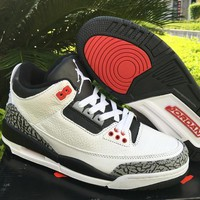 Nike Mens Air Jordan 3 Retro Leather Basketball Shoes