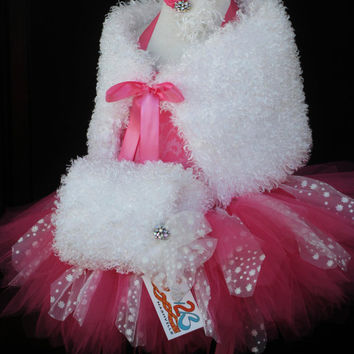 Snow Fairy Pink Princess Tutu Set Pageant Wear by Baby2BNashville