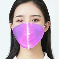 Luminous 7 Color Fiber Optic LED Light Up Face Mask Bluetooth App Control Customizable Text Display