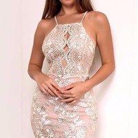 Sonnie Lace Sequin Dress