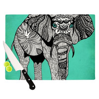 """Pom Graphic Design """"Elephant of Namibia Color"""" Cutting Board"""