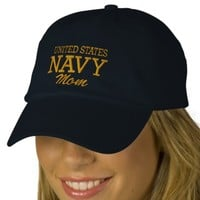 United States NAVY Mom Embroidered Hat | Zazzle