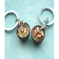 Ramen Noodle Bowl Key Chain