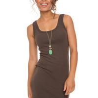 Hold The Line Dress - Charcoal