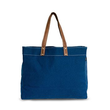 Carryall Tote - Waxed Navy
