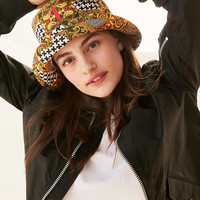 Mixed Print Bucket Hat | Urban Outfitters