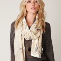 Spun Scarves Oriental Flower Scarf at Free People Clothing Boutique