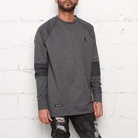 Rudimental Paneled Terry Jersey Charcoal