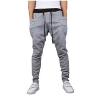 Mooncolour Mens New Arrival Casual Jogging Harem Pants, Light Gray, Medium