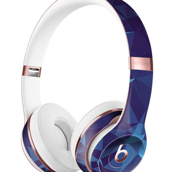 Royal Blue Abstract Geometric Shapes Full-Body Skin Kit for the Beats by Dre Solo 3 Wireless Headphones