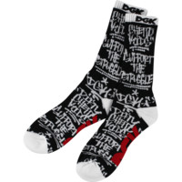 DGK GETTING UP CREW SOCKS BLK/WHT