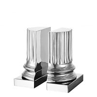 Silver Bookends (set of 2) | Eichholtz Pillar