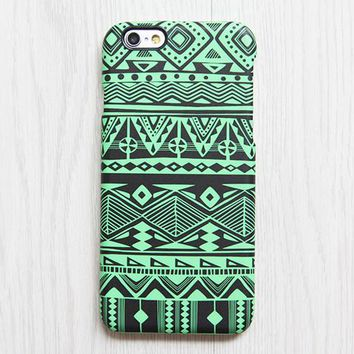 Green Tribal Pattern iPhone XS Max iPhone XS Max plus Case Ethnic iPhone 8 SE  Case Retro Samsung Galaxy S8 S6  Case 078