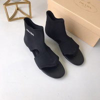 Prada Fashion Knit Boots Sandal