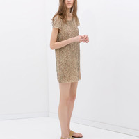 DRESS WITH EMBROIDERED SEQUINS