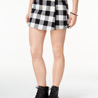 Be Bop Juniors' Faux-Wrap Plaid Skort - Juniors Clearance - Macy's