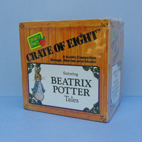 Beatrix Potter Tales Crate of Eight Audio Cassettes Vols 1 - 8 Peter Rabbit Flopsy Bunnies Childrens Songs Stories Music NOS Boxed Set