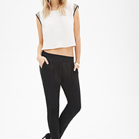 LOVE 21 Pleated Crepe Pants Black