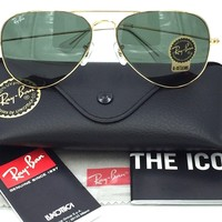 Cheap Ray-Ban RB3025 L0205 Aviator Gold Frame with G-15 Green Lens 58mm (22) outlet