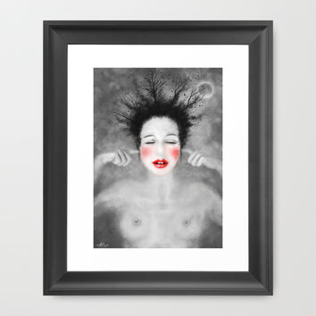 The noise of the world Framed Art Print by LilaVert