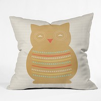 Allyson Johnson Native Owl Throw Pillow