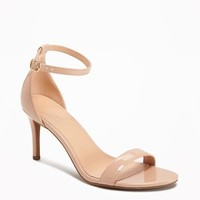 Faux-Patent Stiletto Sandals for Women   Old Navy