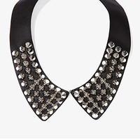 Spiked Faux Leather Collar