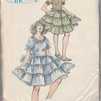 Authentic Patterns 277 Ladies Square Dance Dress In Three Versions Multi Size Pattern Misses 12 14 16 Bust 34 36 38 Full 3-Tier Skirt Design