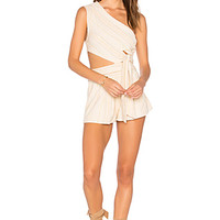 Free People Hot Chip Romper in Neutral Combo   REVOLVE