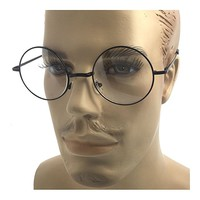 Oversized Big Round Metal Frame Clear Lens Round Circle Eye Glasses