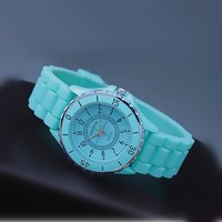 Mint Color Silicone Watch 06