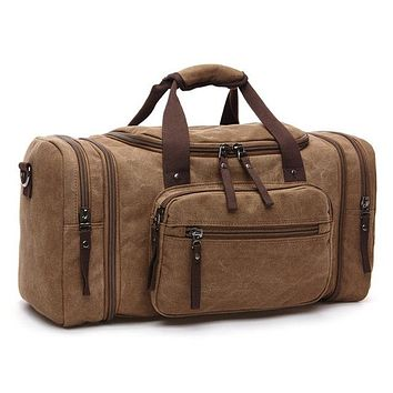 Canvas Men Travel Bags Carry on Luggage Bags Men Duffel Bag Travel Tote Large Weekend Bag Overnight high Capacity