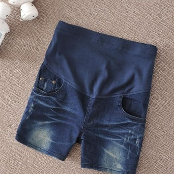 Maternity jeans Summer Necessary Prop Belly Pants Pregnant Women Fashion Denim shorts = 1946444036