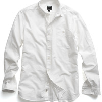 Selvedge Oxford Shirt in White
