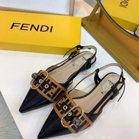 DCCK Fendi Women's Leather Fashion Sandals