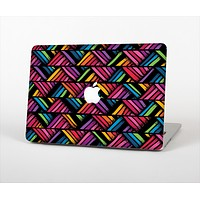 """The Abstract Zig Zag Color Pattern Skin Set for the Apple MacBook Air 13"""""""
